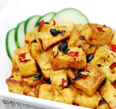 Fried Crispy Beancurd Cubes With Fermented Black Beans