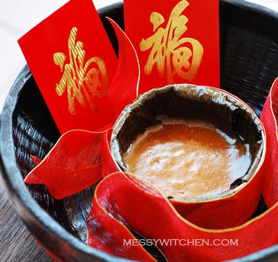 Chinese New Year Ti Kuih (Nian Gao-Sweet Sticky Rice Cake-Kuih Bakul)