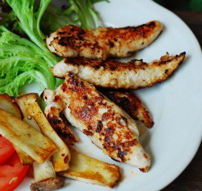 Pan-Fried Tahini Chicken