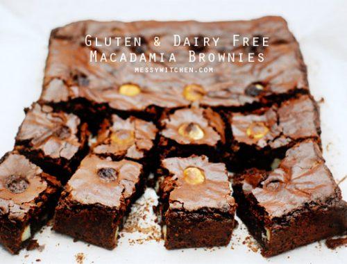 Gluten & Dairy Free Macadamia Brownies