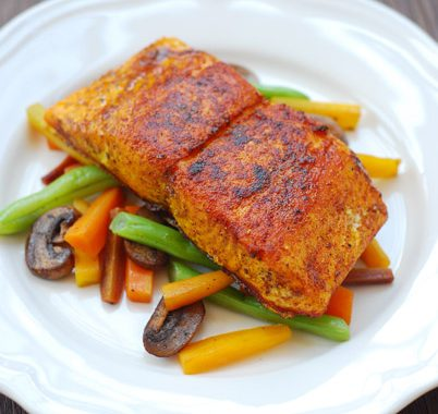 Pan Fried Turmeric & Paprika Salmon