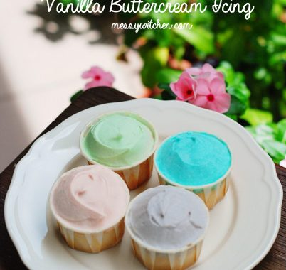 Vanilla Cupcake With Vanilla Buttercream Icing