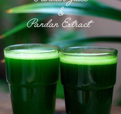 How To Make Homemade Pandan Juice & Pandan Extract