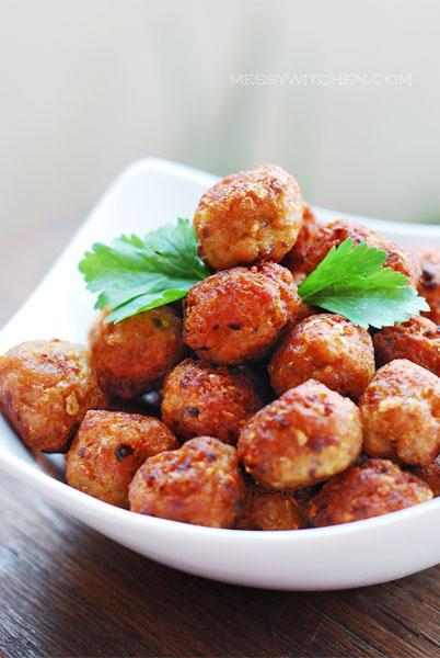 Grandma's Yummy Fried Pork Balls - Messy Witchen